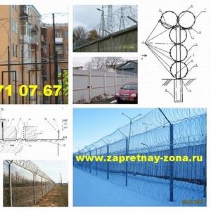 Монтаж колючей проволокой Егоза в Рязани